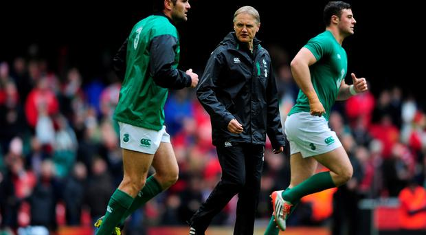 Ireland coach Joe Schmidt at the Millennium Stadium