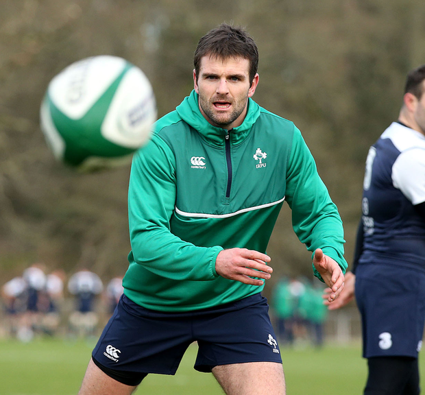 Injury doubt: Jared Payne is in a race against time to make the England clash after picking up a hamstring complaint