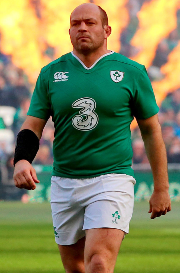 Winning feeling: Rory Best led by example against Italy, with the Irish claiming all eight of the hooker's lineouts