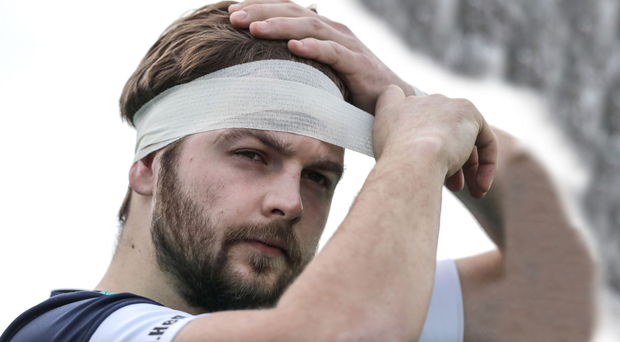 Bring it on: Iain Henderson at Ireland's training session at Carton House yesterday