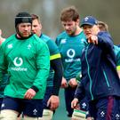 Sean O'Brien and head coach Joe Schmidt