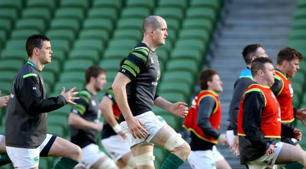 Raring to go: Devin Toner and Dan Leavy will be aiming to seize their chance against Italy