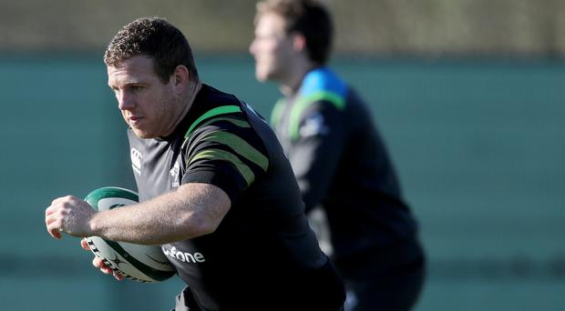 Bench mark: Sean Cronin at Ireland training yesterday