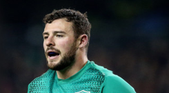 Big call: Robbie Henshaw could find himself back in the centre depending on what boss Joe Schmidt decides to do