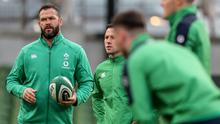In charge: Andy Farrell began his Ireland tenure with a sluggish win over Scotland