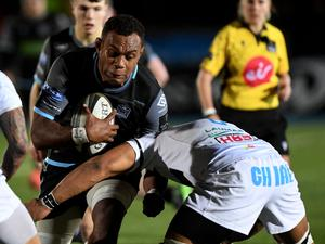 Up close: Leone Nakarawa is set to face his future employers when Glasgow host Ulster on Friday