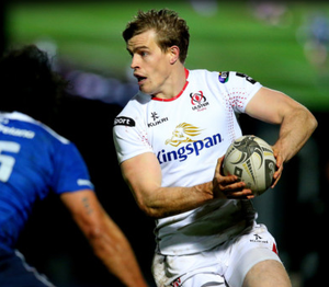Shining light: Andrew Trimble in action against Leinster