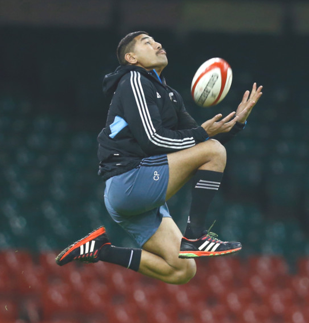 World in his hands: Charles Piutau has a bright future with the All Blacks and is likely to make their World Cup squad but he will then forgo his international career for a while to come and star at the Kingspan Stadium for Ulster