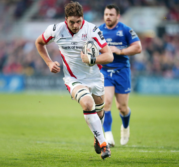 Huge performance: Iain Henderson's impressive display included a try