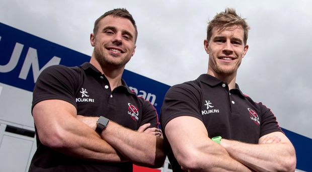 Clear aim: Tommy Bowe and Andrew Trimble will hope to impress Joe Schmidt with Ulster