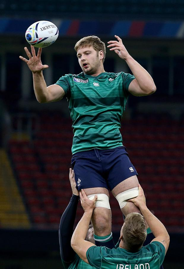 2015 Rugby World Cup, Ireland Rugby Captain's Run, Millennium Stadium, Cardiff, Wales 16/10/2015 Iain Henderson Mandatory Credit ©INPHO/Dan Sheridan