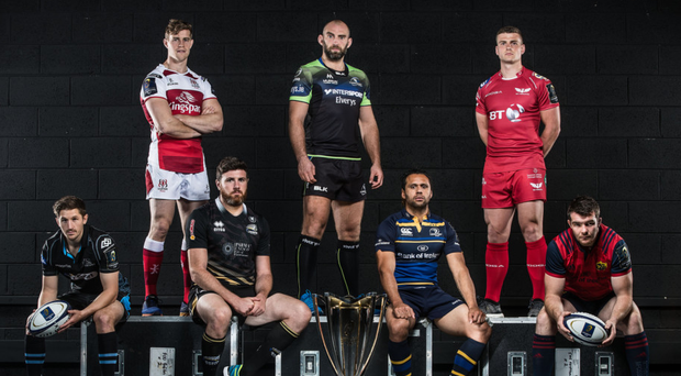 Ready for battle: PRO12 captains will have their eyes on Europe next week but first for the Irish sides is derby weekend