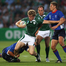 Flashback: Andrew Trimble in action for Ireland against Namibia in Bordeaux back at the 2007 World Cup