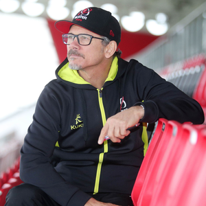 Looking ahead: Les Kiss plots Clermont's downfall at the Kingspan yesterday