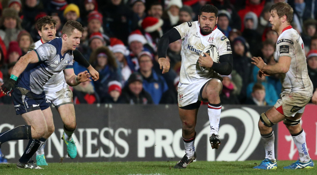 Flying form: Charles Piutau is once again Ulster's Player of the Month