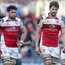 Doom and gloom: Clive Ross and Iain Henderson trudge off the Kingspan pitch after defeat to Bordeaux