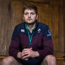 Ready for action: Iain Henderson at Ireland's training base at Carton House yesterday