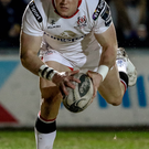 Right on cue: Ulster's Craig Gilroy scores his side's first try