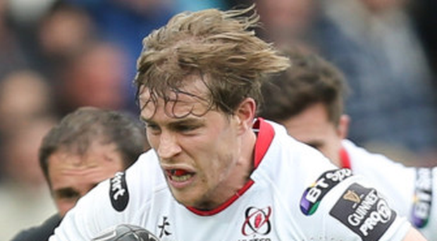 Andrew Trimble scored two first-half tries for Ulster