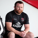 Century boy: Andy Warwick at Kingspan yesterday ahead of his 100th Ulster cap