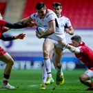 Running man: Ulster's Jacob Stockdale runs in a try in the big win at Scarlets last week