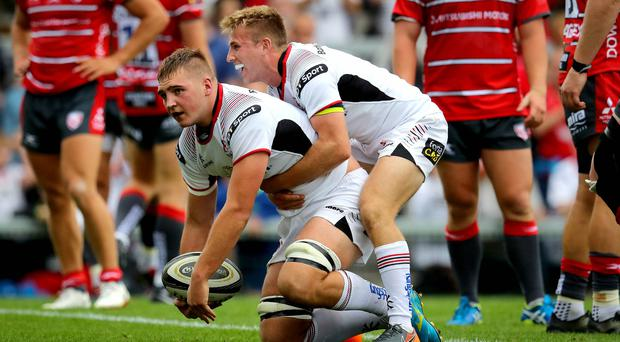 Ulster's Marcus Rea scores his side's first try against Gloucester during last summer's Chris Henry testimonial