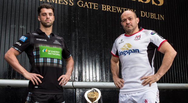 Ready to roll: Adam Hastings of Glasgow Warriors and Ulster skipper Rory Best