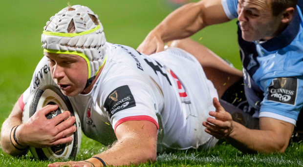 Point to prove: Luke Marshall scores against Cardiff Blues last week