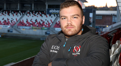 Raring to go: Eric O'Sullivan is set to start for Ulster against Clermont after Jack McGrath's injury