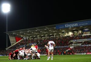 Pitch battle: Ulster on the way to victory over Munster at Kingspan Stadium on New Year's Day despite problems in the scrum