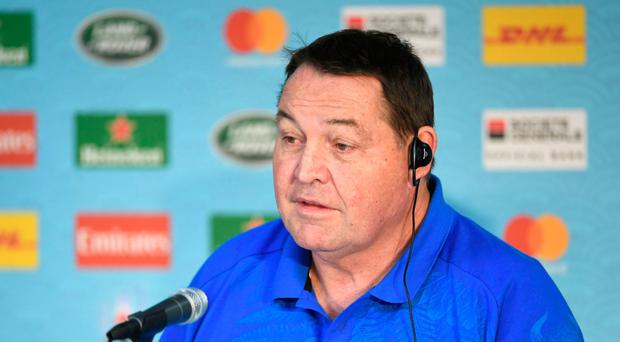 Firm belief: Steve Hansen is backing his side to go all the way