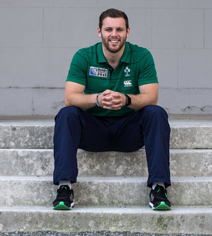 Sitting pretty: Darren Cave is all smiles after being announced in Ireland's 31-man World Cup squad