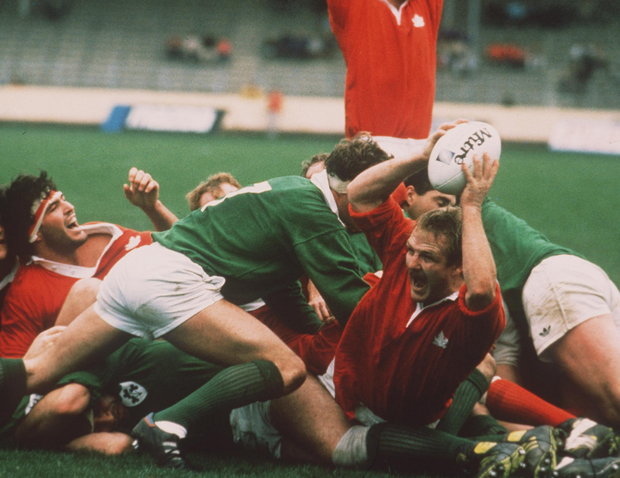 Try that: Canada cross the line to touchdown against Ireland at the 1987 World Cup but they ran out of steam later in the game