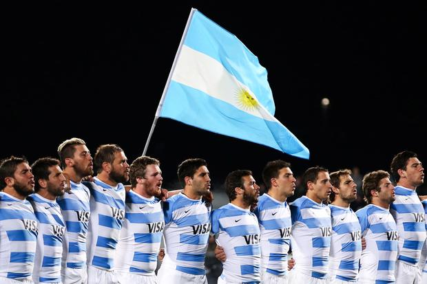 National pride: Argentina, Ireland's likely opponents should both make the quarters, have been singing loud and proud