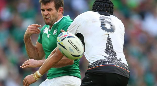 Big miss: Jared Payne's foot injury has forced Joe Schmidt to use a different centre pairing for the seventh game in a row
