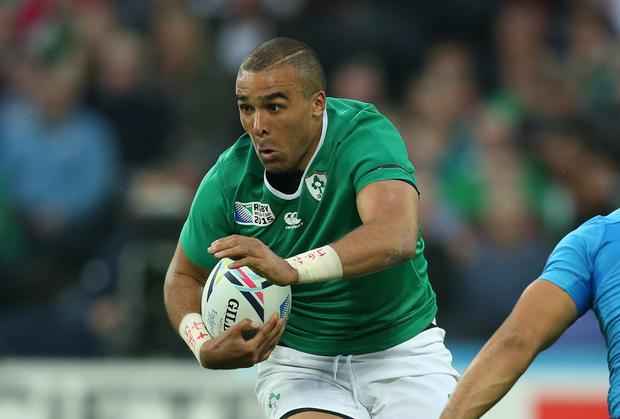 All in hand: Simon Zebo wants to take on France in the creativity stakes as Ireland aim to seal top spot in Pool D