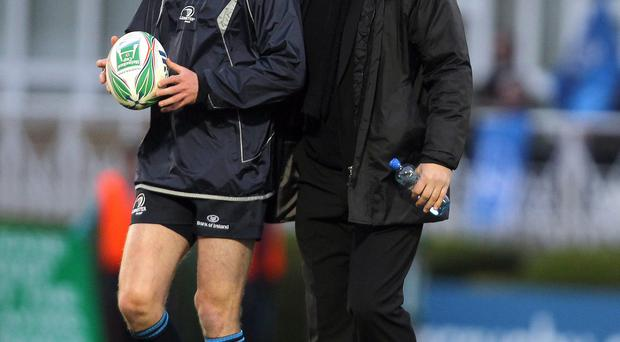 Still in touch: Jonny Sexton with old boss Michael Cheika