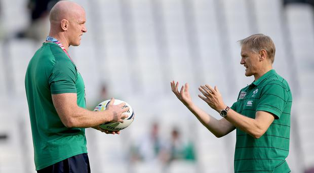 Ireland skipper Paul O'Connell with head coach Joe Schmidt