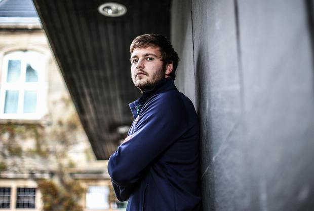 Back to the wall: Ulster's Iain Henderson has crucial role to play against Argentina in Cardiff on Sunday given Ireland's injury and suspension crisis