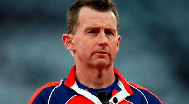 In the middle: Nigel Owens is to referee the World Cup final