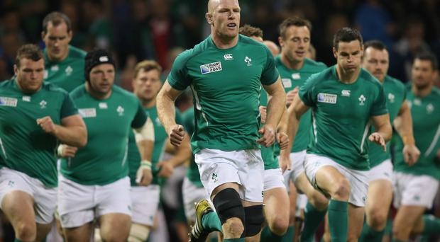 Natural leader: Paul O'Connell, ahead of what turned out to be his final Test for Ireland.