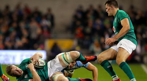 Big loss: Dan Leavy in action for Ireland
