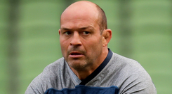 Final call: Rory Best leads the Captain's Run at the Aviva yesterday