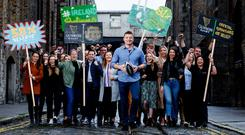 Up for it: Brian O'Driscoll at the Guinness Storehouse in Dublin as part of the company's Belief initiative