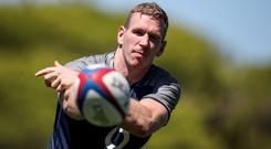 Ready to rock: Chris Farrell at training