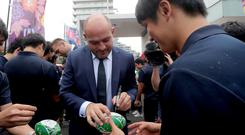 Rory Best in Japan
