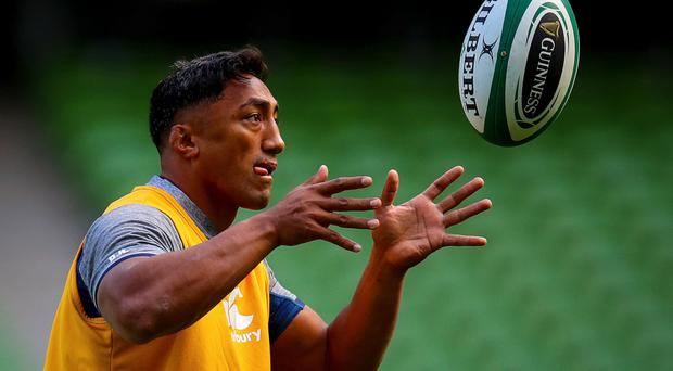 Standing tall: Bundee Aki is ignoring criticism that he is a 'blow-in' and shouldn't start over players born on the island