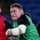 Big support: Tadhg Furlong is a fan of Irish captain Rory Best