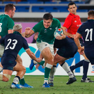 On the run: Jacob Stockdale surges forward for Ireland