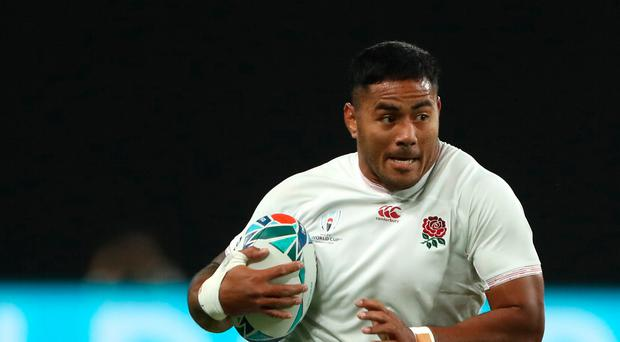 Doubling up: Manu Tuilagi crossed twice for England